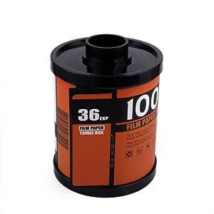 HDE Novelty Camera Film Roll Canister Toilet Paper/Tissue Dispenser