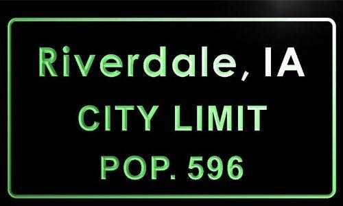 t82060-g Riverdale city, IA City Limit Pop 596 Indoor Neon sign