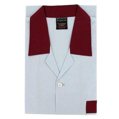 Men's Nightshirts - Button Through - Pale Grey