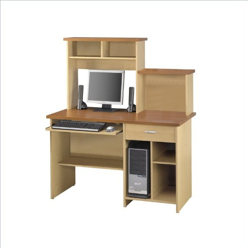 Bestar Active Computer Workstation, Copper Cherry and Maple