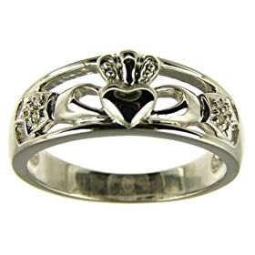 9ct White Gold Ladies Diamond