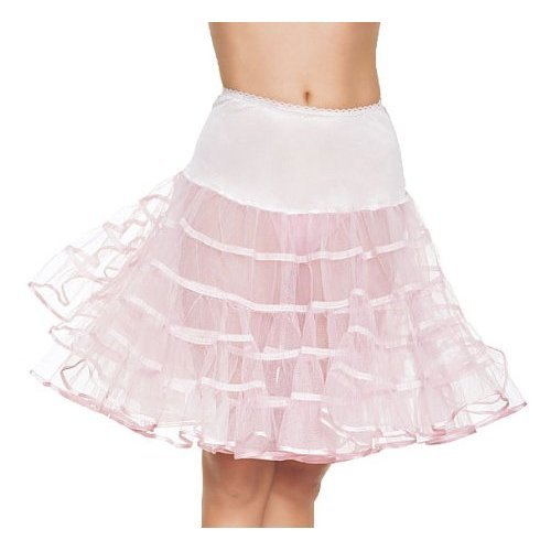 LA83043 (White) Crinoline Petticoat Knee Length