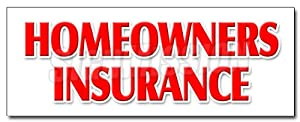 """36"""" HOMEOWNERS INSURANCE DECAL sticker home owners house building apts"""