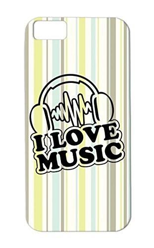 I Love Music C1 Hip Hop Pop Music Breakdance Electro Dj Headphones Dance Rap Black Tpu For Iphone 5C Cover Case
