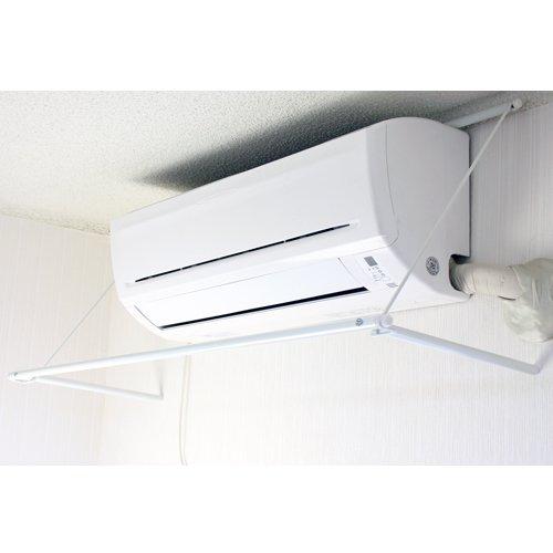 エアコンに引っかけて乾かす!室内干し 室内物干し 洗濯物干し エアコンハンガー 耐荷重5kg (B109)