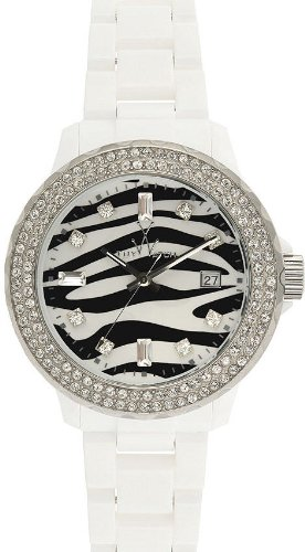 Toy Watch Women's TZ52008-WH Zebra Diamond Collection Watch