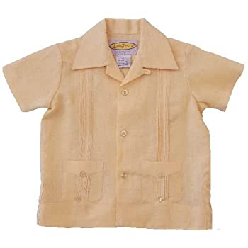 Boys 2-pockets Pleated Guayabera by LocoStyle