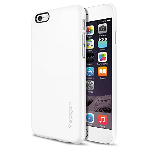 iPhone 6 ケース, Spigen® [パーフェクト-フィット] シン ・フィット The New iPhone アイフォン6 (2014) (国内正規品) (シマリー・ホワイト SGP10937)