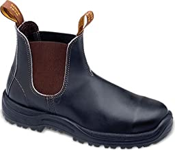 Blundstone 172 Men\'s Safety Toe Pull-On Shoe Stout Brown 10 US / 9 AU