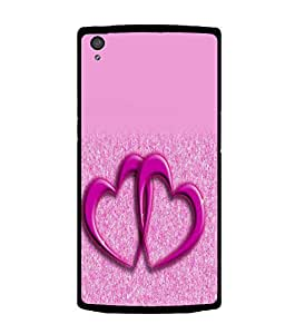 printtech Heart Couple Back Case Cover for OnePlus X