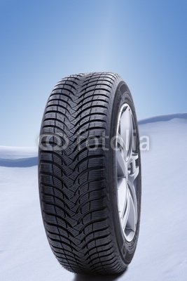 """Wallmonkeys Peel and Stick Wall Decals - Winter Tires in Snow - 36""""H x 24""""W Removable Graphic"""