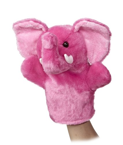 "Aurora World Sleeve Elephant Plush Puppet, 10"" Tall - 1"