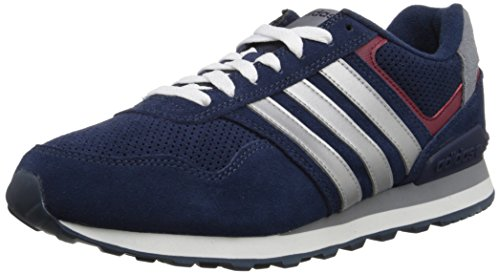 Adidas NEO Men's Runeo 10K Fashion Sneaker, Collegiate Navy/Silver/Collegiate Burgundy, 9 M US