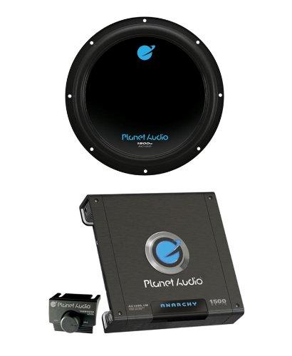 """Planet Audio Ac12D 12"""" 1800W Car Audio Subwoofer + Ac15001M 1500W Mono Amplifier"""