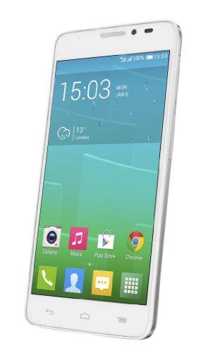 Alcatel One Touch Idol X+ 6043D Dual-Sim Smartphone (12,7 cm (5 Zoll) Touchscreen, 2GHz, Octa-Core, 2GB RAM, 16GB Speichergröße, 13,1 Megapixel Kamera, Android 4.2) white
