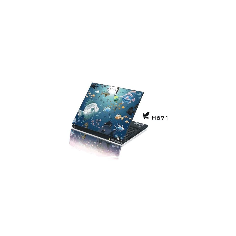 15.4 Laptop Notebook Skins Sticker Cover H671 Reef Fish Skin