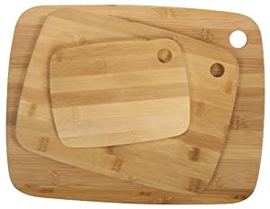 Core Bamboo Classic Cutting Board Combo Pack, Natural, Small Medium Large by Core Bamboo