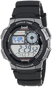 Casio Men's AE1000W-1BVCF Grey and Black Resin Digital Sport Watch