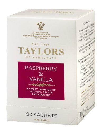 Taylors of Harrogate, Raspberry and Vanilla Infusion, 20 Count Wrapped Tea Bag by Taylors of Harrogate [Foods]