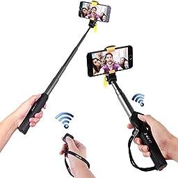 Arrela Hornbill Bluetooth Selfie Stick, Portable Self-portrait Monopod with Separate Bluetooth Remote Shutter for iPhone 6S/6S Plus/6/6 Plus/5S Samsung Galaxy GoPro ST2 Long Pattern
