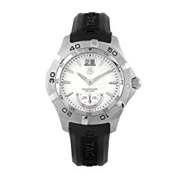 TAG Heuer Men s WAF1011 FT8010 Aquaracer Grande Date Silver Dial Watch