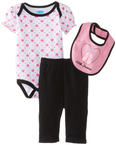 Bon Bebe Baby-Girls Newborn Little Dancer Bib Bodysuit And Legging Set, Multi, 3-6 Months front-1076513