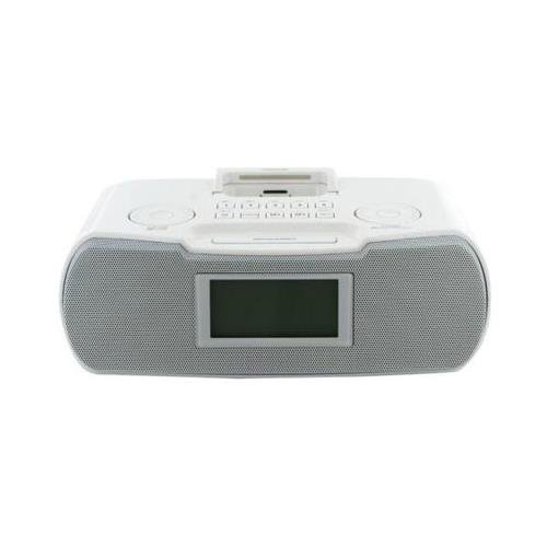 Sangean RCR-10 Desktop Clock Radio – 8 W RMS – Stereo – Apple Dock Interface RCR-10 WHITE