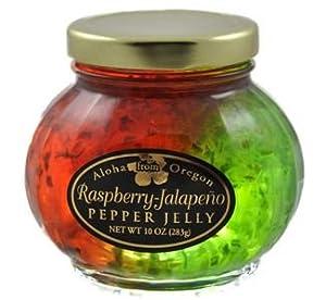 Aloha From Oregon Raspberry and Jalapeño Split Pepper Jelly, 10 oz. by Aloha From Oregon