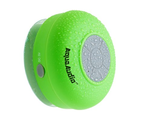 Aquaaudio Mini Ultra Portable Waterproof Bluetooth Wireless Stereo Speakers With Suction Cup For Showers, Bathroom, Pool, Boat, Car, Beach, Outdoor Etc.   For All Devices With Bluetooth Capability + Siri Compatible - 6 Hours Playtime / With Built-In Mic F