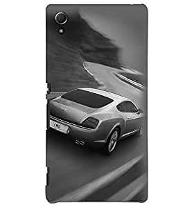 Printvisa Premium Back Cover Speeding Jaguar Design For Sony Xperia Z3+::Sony Xperia Z3 Plus