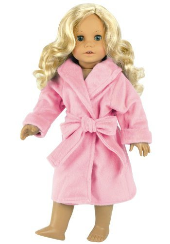 18 Inch Doll Clothes/clothing Fits American Girl Dolls - Soft Pink Doll Robe 18 Inch Doll Sleepwear