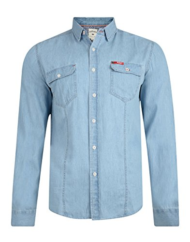 Lee Cooper charrisworth Jeans di cotone a maniche lunghe Denim Light Wash Small