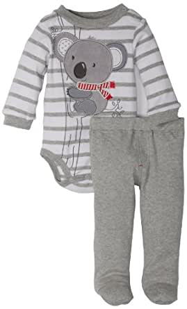 Mini Bean Baby-Boys Newborn Koala Creeper Pant Set, Light Grey Heather, 3-6 Months