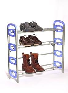 B&E Home Essential - 4-Shelf Metal Shoe Utility Rack - 4 Shelves