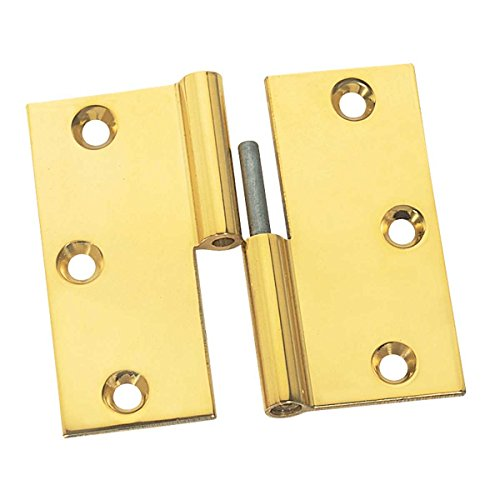 Cabinet Hinges Bright Solid Brass Square 3 X 3