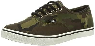 Vans U Authentic Lo Pro Leopard, Baskets montantes femme, Vert - Militaire/zip jaune, 35