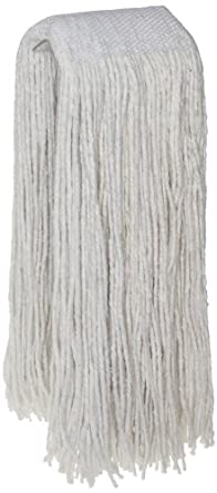 Zephyr Blendup 4-Ply Blended Natural and Synthetic Fibers Cut End Wet Mop Head with Wide Band (Pack of 12)