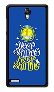 """Humor Gang Keep Smiling Keep Shining Printed Designer Mobile Back Cover For """"Xiaomi Redmi Note - Xiaomi Redmi Note 4G"""" (3D, Glossy, Premium Quality Snap On Case)"""