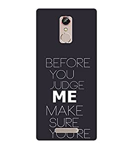 EPICCASE Before you Judge me Mobile Back Case Cover For Gionee S6S (Designer Case)