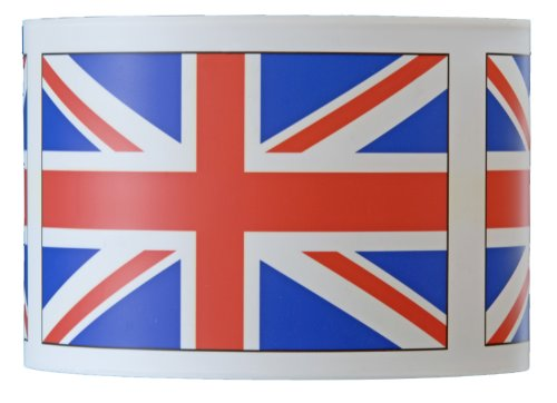 10inch diameter artistic hanging lamp shade (pendant lampshade) with the UK (British) Union flag / Union Jack design