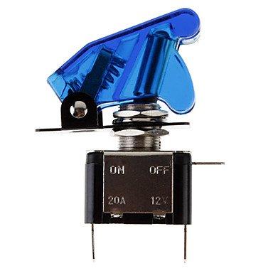 Component Leds - Diy Blue Led Illuminated Toggle On/Off Switch For Car (12V 20A)