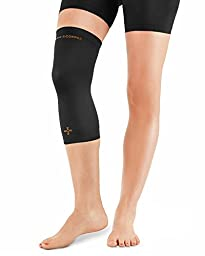Tommie Copper Women\'s Recovery Refresh Knee Sleeve, Black, X-Large
