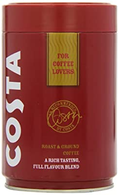 Costa Roast and Ground Coffee 250g, Full Flavour Blend from Costa