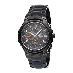Orient Men's CEZ05003B Power Reserve Semi-Skeleton Black Automatic Watch
