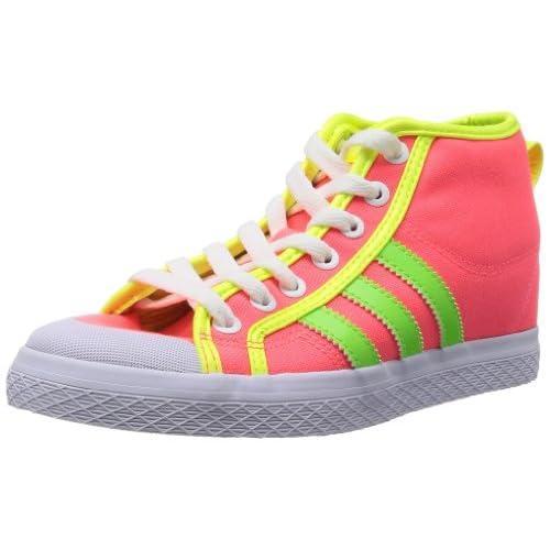 (アディダス)adidas HONEY STRIPES UP W 24.5cm 蛍光ピンク/蛍光黄緑/蛍光黄