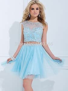 Ice Blue Prom Dresses Vestidos Para Formatura 14w : Sports & Outdoors