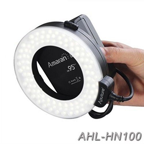 Aputure-Amaran-Halo-AHL-HN100-LED-Ring-Flash-Light-for-Nikon-DSLR-Camera