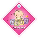 Baby On Board, Baby on Board Sign, Pink Bricks, Baby on Board Car Sign, Baby Girl On Board, Decal, Baby on Board, Baby Car Sign, Baby Sign, Bumper Sticker, Maternity, Pregnancyby iwantthatsign.com