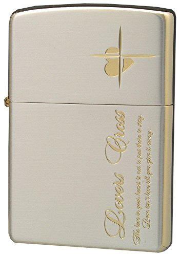 ZIPPO (Zippo) oil lighter NO200 lovers / Cross-message SIDE Silver / Pink 63050298