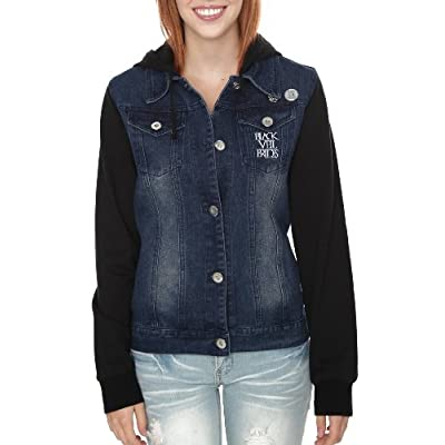 Shop eBay for great deals on Denim Juniors Coats, Jackets & Vests for Women. You'll find new or used products in Denim Juniors Coats, Jackets & Vests for Women on eBay. Boyfriend fit button-up denim jacket in faded black with Darling embroidery on the back, double side pockets, buttoned chest pockets and sleeve bands. 80% cotton, 20%.